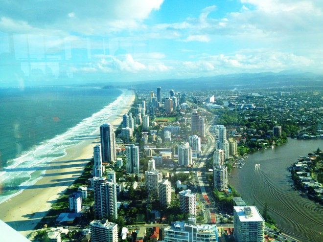View over Surfers Paradise from Skypoint, Gold Coast