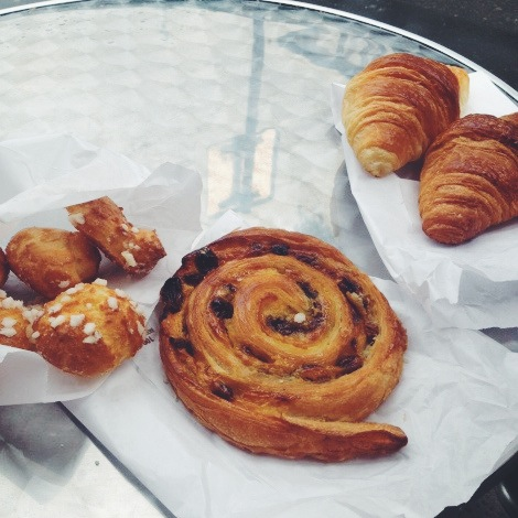 Pastry for breakfast in Paris