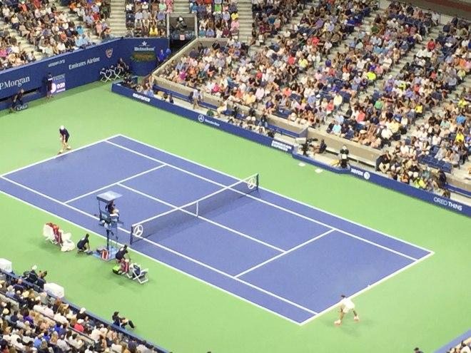 US Open 2015 Federer Isner
