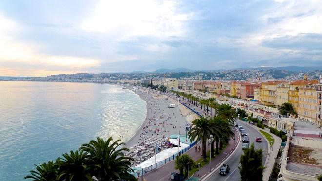 Overlooking the bay in Nice