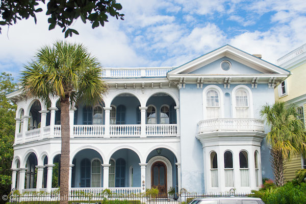 Blue Mansion on South Battery Charleston SC
