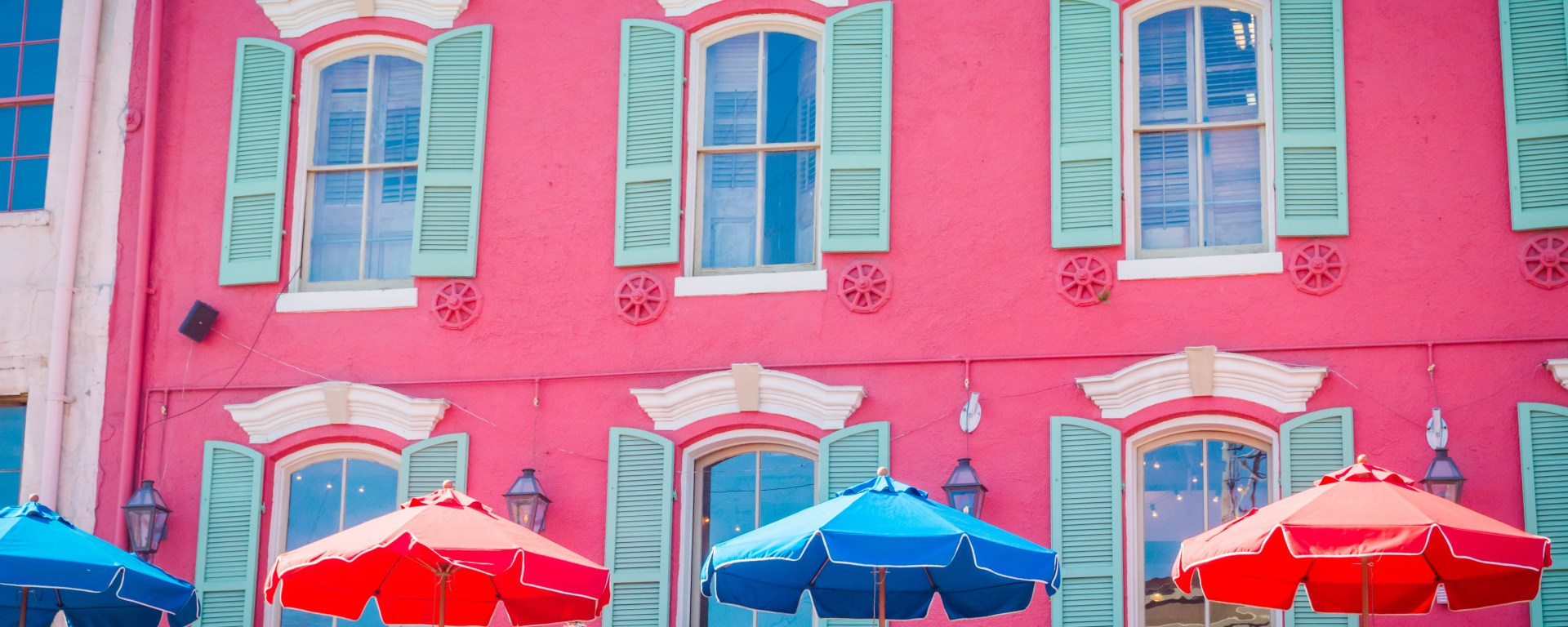 Bright buildings in New Orleans