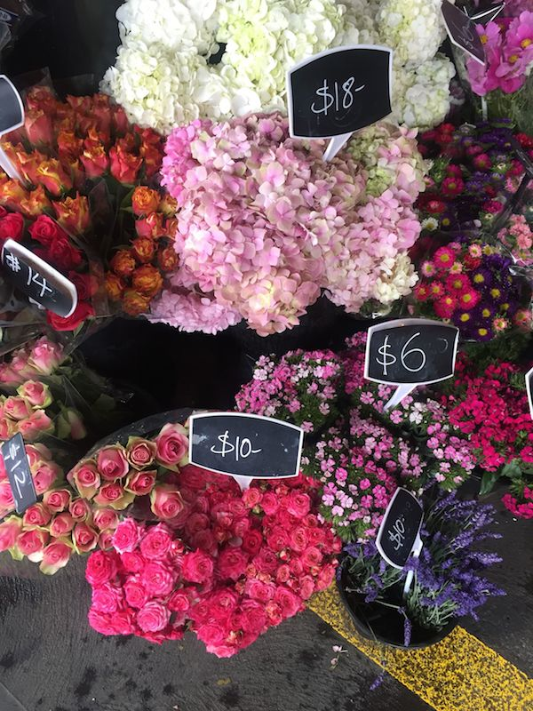 Flowers at South Melbourne Market