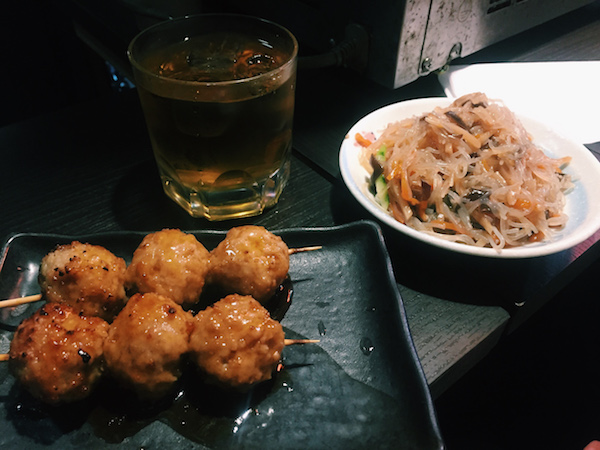 Food in Piss Alley Shinjuku Tokyo