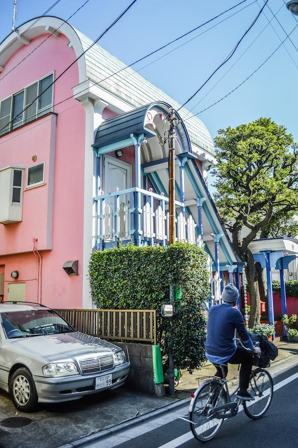 Kawaii Architecture pink house yanaka tokyo