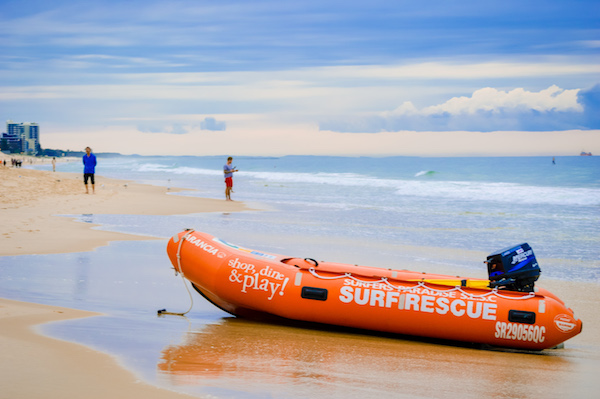 Surf Life saving raft gold coast