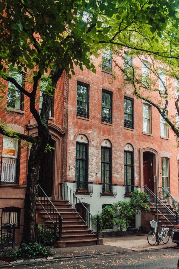 beautiful brownstones in west village new york city