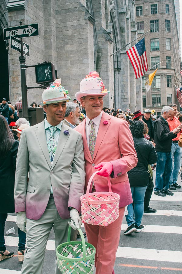 matching costumes at 5th avenue easter parade nyc
