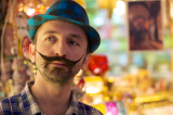 I was captivated by this shopkeeper and his amazing mustache.