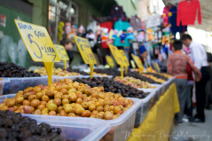 Bins of olives tempted me from all angles at this market.