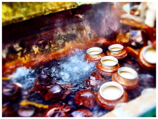 Hot springs in Manikaran Gurudwara, Kullu Manali, India