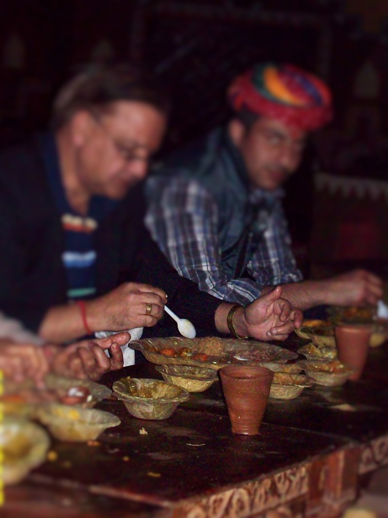 Place to eat in cottage in chowki dhani, jaipur India