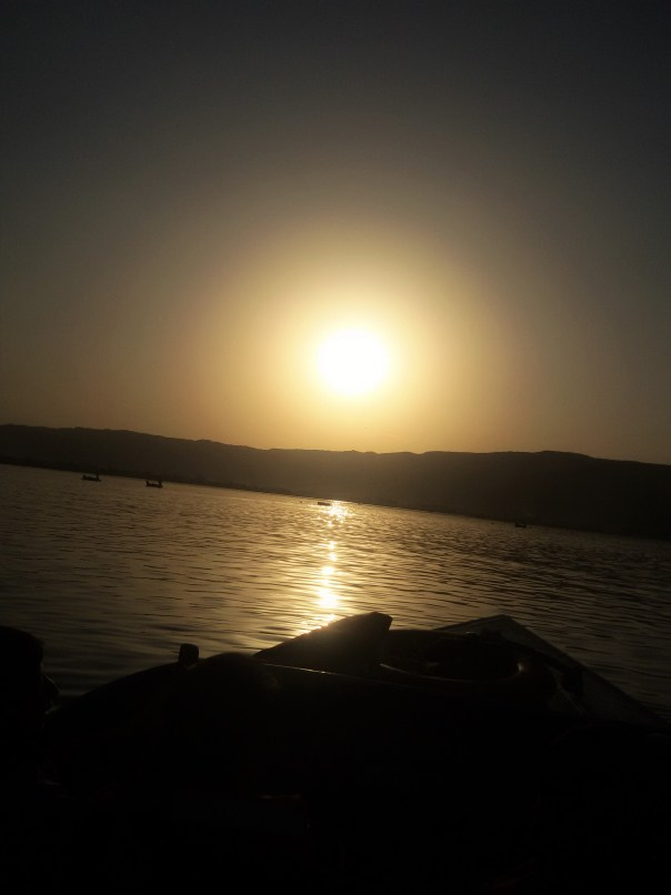 Silhouette of sunset at Ajmer Lake | Ana Sagar lake Ajmer