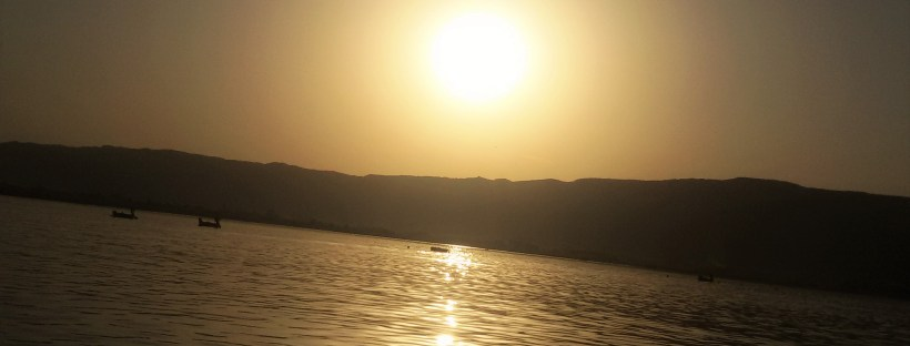 Ana Sagar Lake| Silhouette of sunset at Ajmer Lake