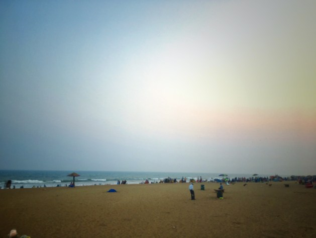 Evening at the Golden Sea Beach,Puri