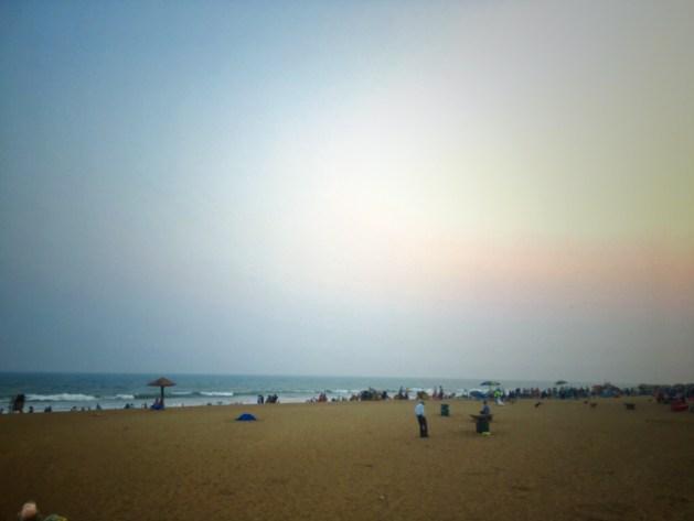 Evening at the Golden Sea Beach,Puri