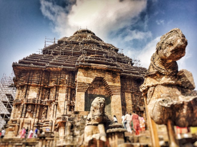 View of entire Sun temple konark