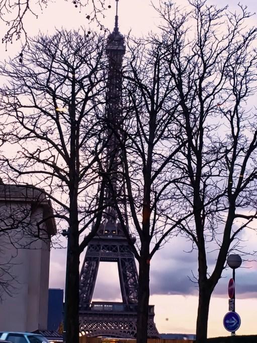 Eiffel Tower view from Cafe du Trocadero restaurant