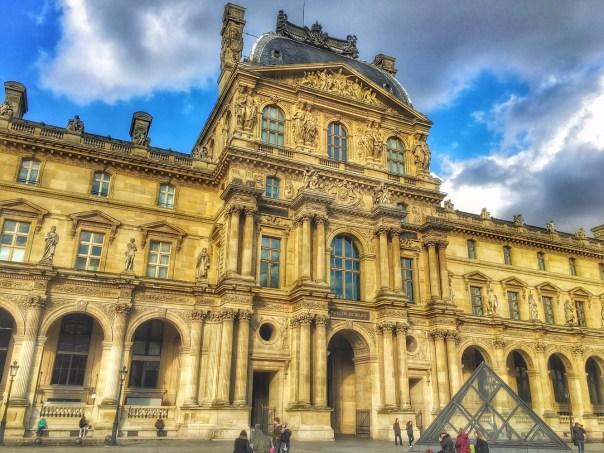 Louvre Museum Paris outside building