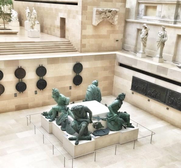 Louvre Museum Paris Interiors and sculptures