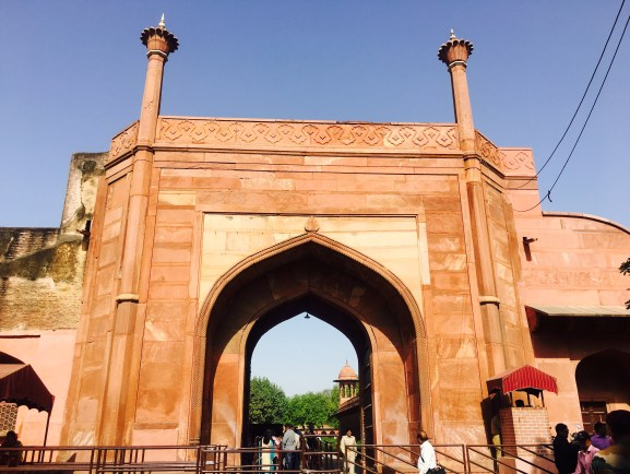 main entry of the Taj premises with security check