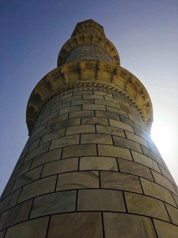 Minaret in Taj Mahal