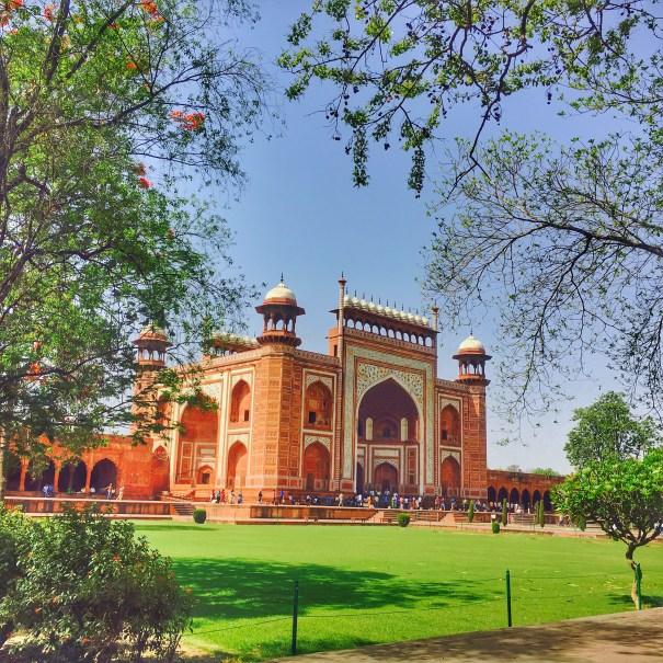 The entrance of Taj Mahal