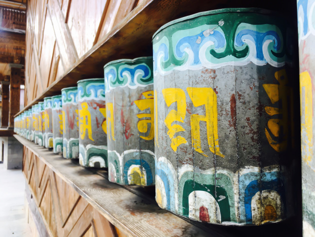 Buddhist Bells at Bering Nag Temple Sangla valley Himachal Pradesh India