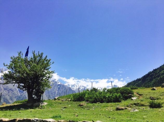kailash Mountains in Sangla Kanda Himachal Pradesh India