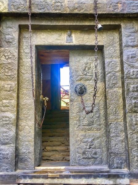 Kamru fort Sangla - Kamakshi Devi - entry door - Sangla Valley, Himachal Pradesh India