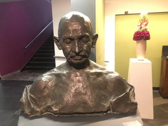 Gandhi Statue at National Gallery of Modern Art Delhi