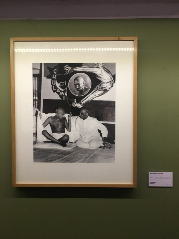 Picture of Gandhi at National Gallery of Modern Art Delhi