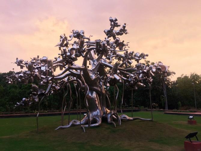 Metal Tree in garden of National Gallery of Modern Art Delhi