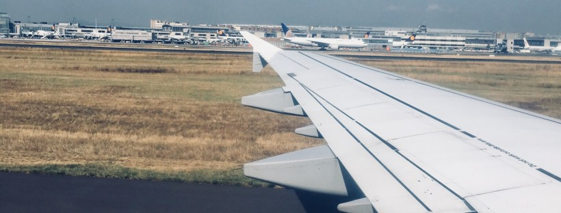 View from plane - Lufthansa Airlines