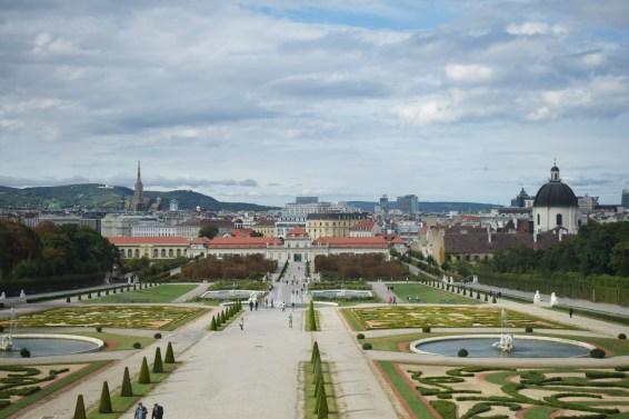 View of Vienna city from Upper Belvedere