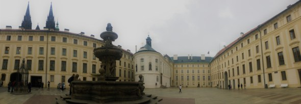 Prague castle - panoromic view
