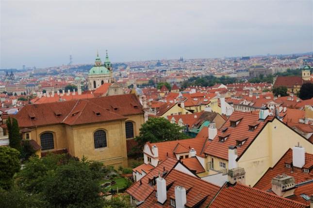 Prague town view from Prague castle