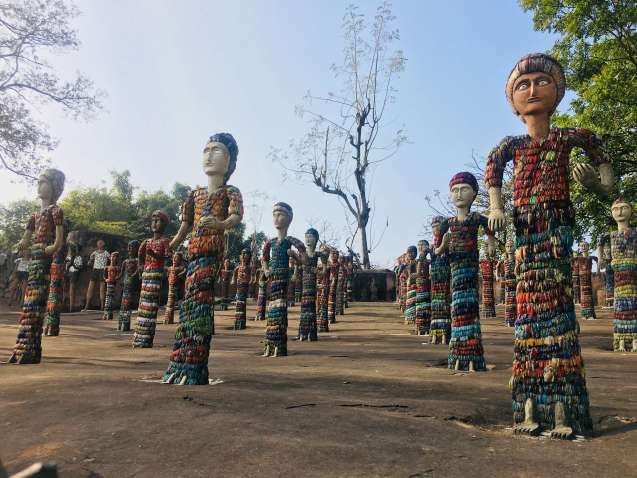 things to do in Chandigarh | Rock Garden Phase 3 sculptures Chandigarh India
