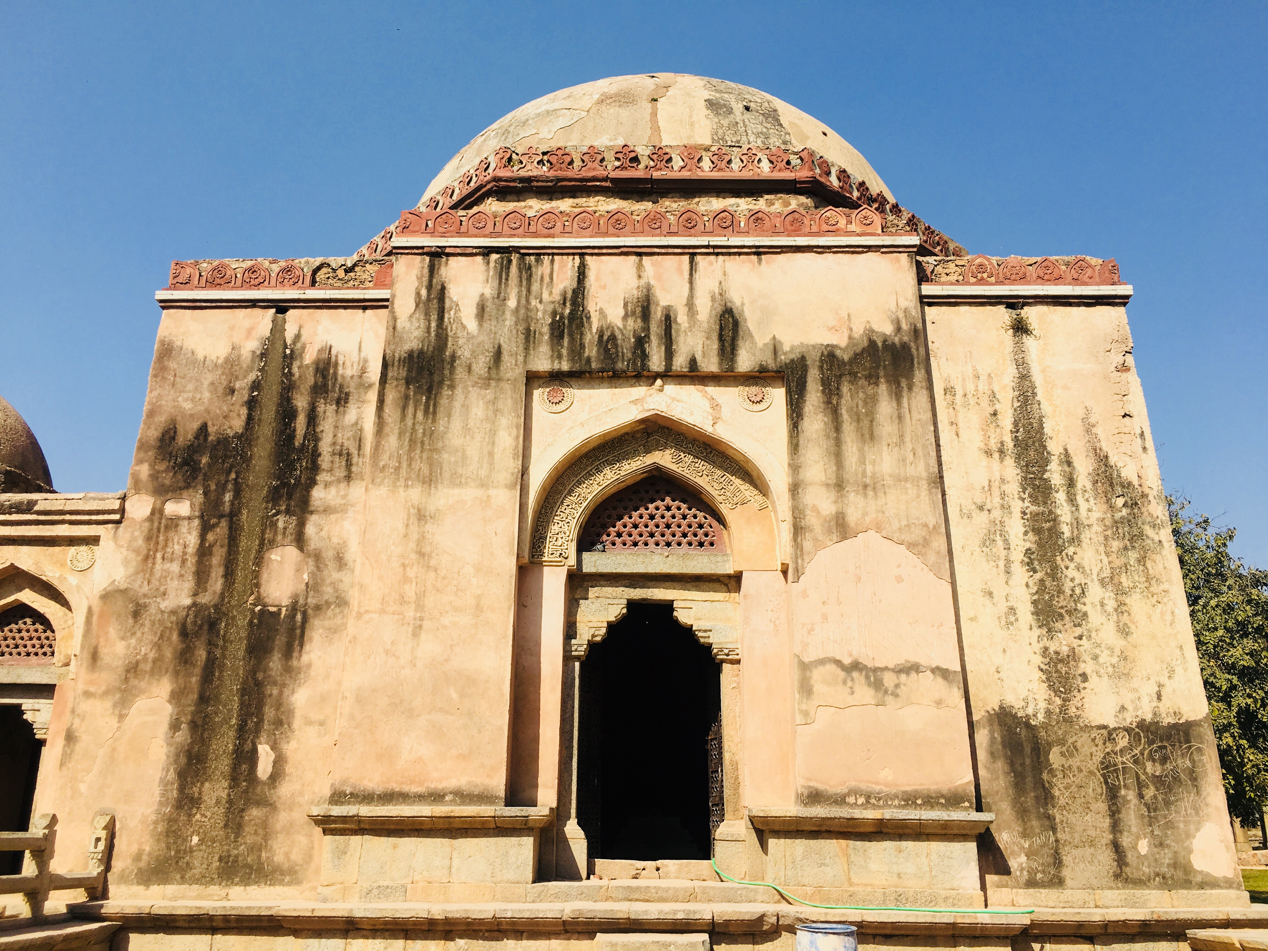 The Firoz Shah's Tomb at The Hauz Khas Fort