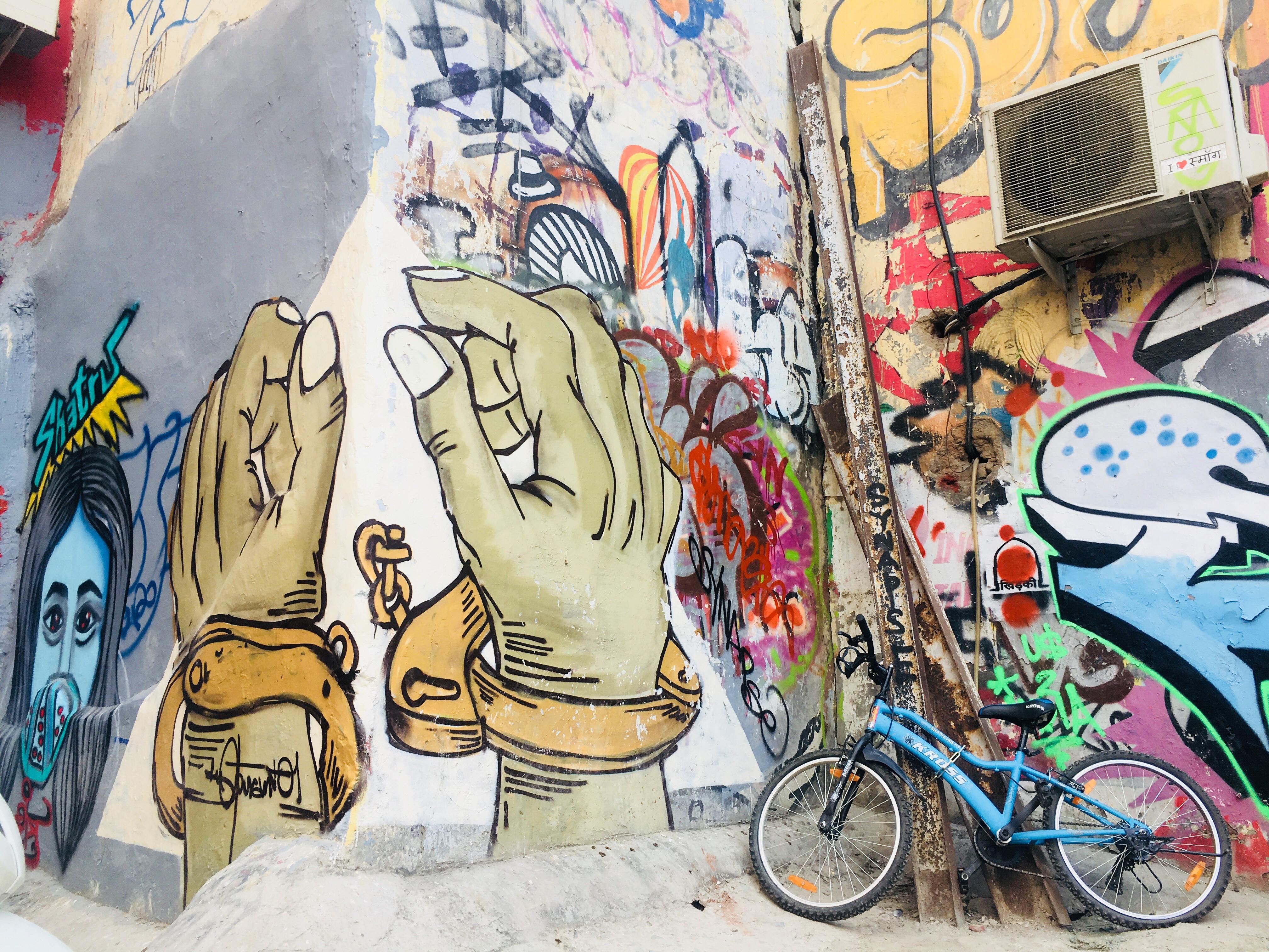 Graffiti at The Hauz Khas Fort