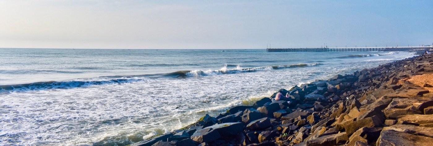 Pondy rock beach
