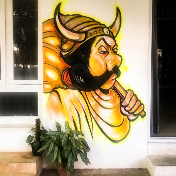 Bckpckrs Panda Mural
