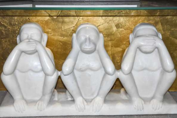 monkey statue in charkha museum
