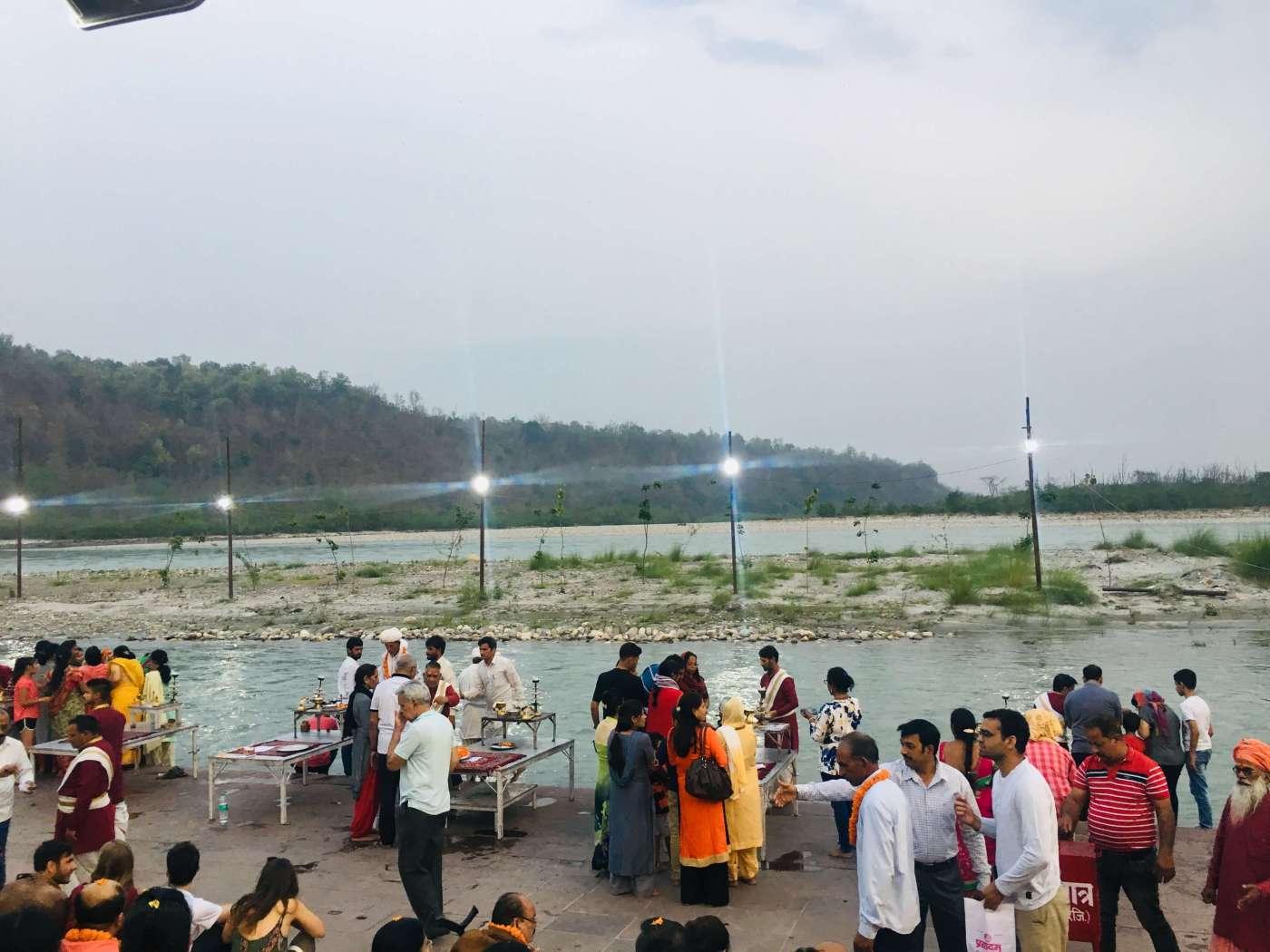 Triveni ghat aarti on my Rishikesh trip