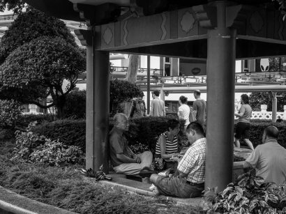 Scenes from Pagoda St. Walkway