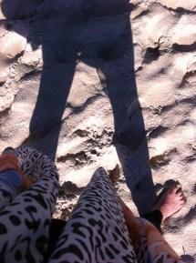 Bare feet + sand = bliss