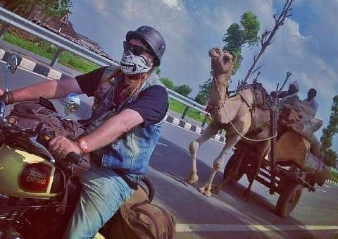 Bike and camel