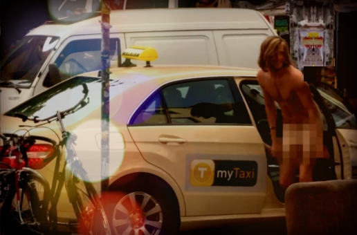 naked guy taxi