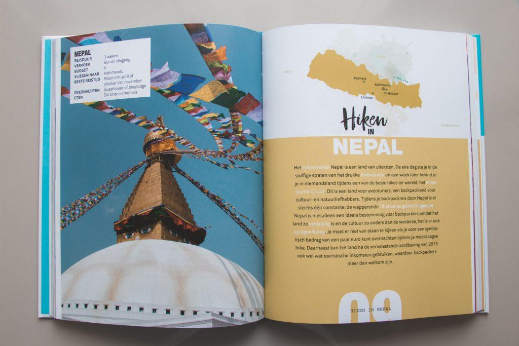 Het land Nepal in het boek Backpack bestemmingen.
