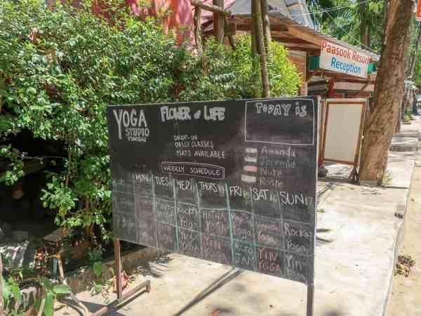 tonsai beach, yoga
